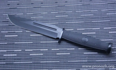 Фиксированный нож SOG Fixation Bowie, Black Oxide  Blade, Kraton Handle