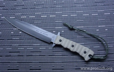 Фиксированный нож TOPS Wild Pig Hunter, DLC Coating Blade, Micarta Handle