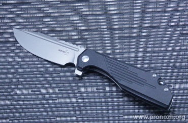 Складной нож Boker Plus JB Stout Lateralus Flipper, Stonewash Blade, Stainless Steel / Black G-10 Handle